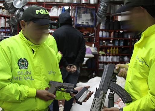 Esta es la bodega en la cual se hallaron las armas. Cortesía Policía.