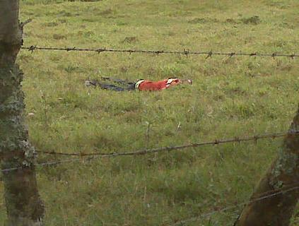 En este terreno falleció el bombero, después de dispararle a su mujer. Foto de cortesía.