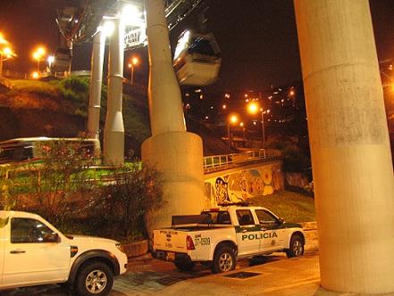 En la estación Juan XXIII, de la Línea J del Metrocable, recibió el balazo uno de los usuarios. Foto de Rodrigo Martínez.