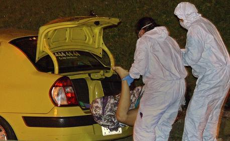 Escena del doble homicidio de las adolescentes. Aún no se ha esclarecido este crimen. Foto de Carlos Taborda.
