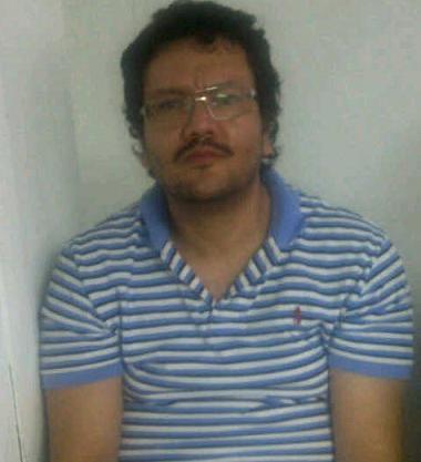 Así estaba 'Valenciano' al momento de la captura en Maracay, Venezuela. Foto de cortesía.