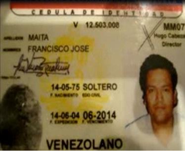 Con esta cédula venezolana, el capo se movía con relativa tranquilidad en ese país, desde 2009. Las fotos son cortesía de la Policía colombiana.