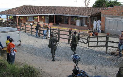 En esta finca del corregimiento San Félix asesinaron al dueño y al mayordomo. Foto de Stephen Arboleda.
