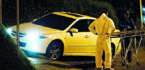 En este automóvil Mazda 6 murió la víctima. Foto de cortesía.