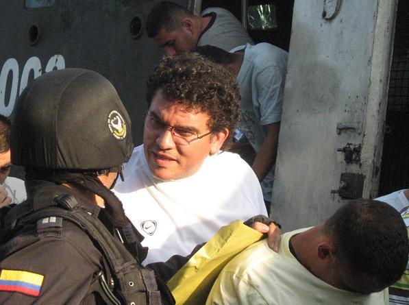 Hugo Albeiro Quintero, durante uno de los traslados de cárcel.