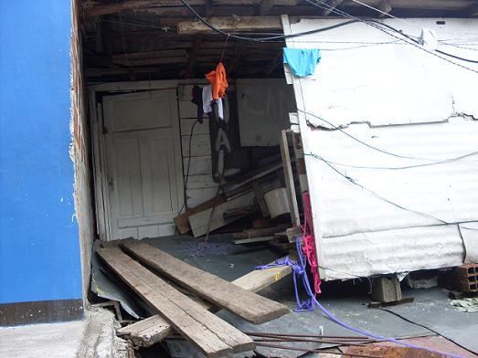 Esta es la fachada de la humilde residencia en la que mataron al infante. Foto de Guillermo Benavidez.