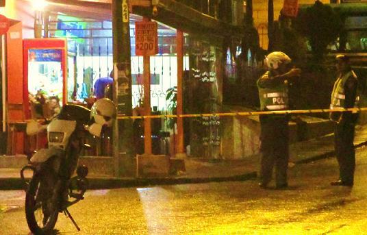 En esta cuadra de Calle Larga se presentó el tiroteo. No hubo capturados, solo un arma incautada. Foto de Santiago Olivares.