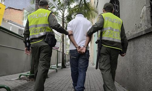 Al momento de la detención, 'Alirio' estaba desarmado. Cortesía Policía Metropolitana.