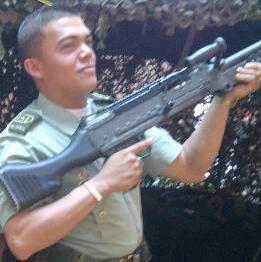 Patrullero Cristian Ríos, asesinado en cumplimiento de su deber. Cortesía.