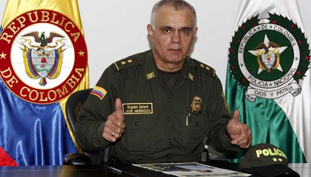 El general José Mendoza viene de ser comandante de la Policía de Bucaramanga. Foto de Manuel Saldarriaga.