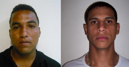 """A la izquierda, el capturado alias """"La Brocha""""; a su lado, el buscado alias """"Cucho"""". Fotos de cortesía."""