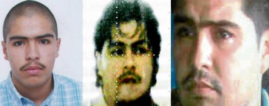 """Fotos de Víctor Manuel Quintero Alzate, alias """"Víctor Colas"""", de izquierda a derecha: reseña de la Registraduría, organigrama de la Policía y momento de la captura. Fotos de cortesía."""