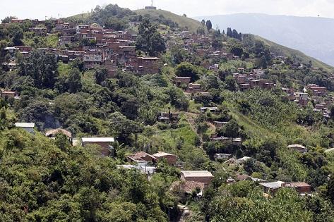 Panorámica del sector El Cañón, en el barrio La Loma. Foto de Manuel Saldarriaga.