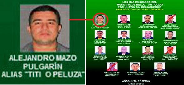 """Así aparece alias """"Tití"""" o """"Peluza"""" en el cartel de los más buscados. Cortesía."""