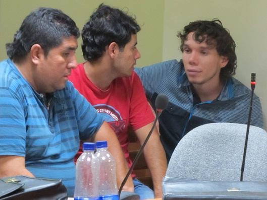 """De izquierda a derecha: alias """"el Gordo"""" o """"Galán"""", """"Maní"""" y """"Yordi"""". Cortesía El Colombiano."""
