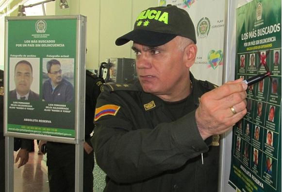 """Cuando fue capturado """"Nando"""", el jefe de la banda """"Pachelly"""", el general José Mendoza prometió no cesar en la lucha contra el crimen organizado de Bello. Foto de Pablo Santa."""