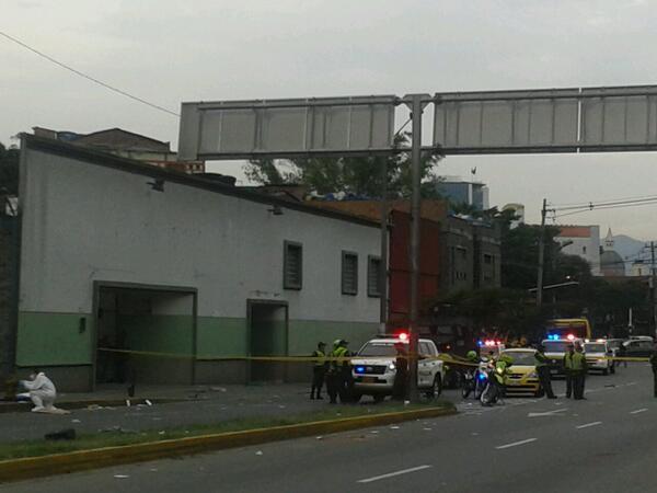 En este lugar se produjo la explosión, afuera del albergue para indigentes. Foto de cortesía.