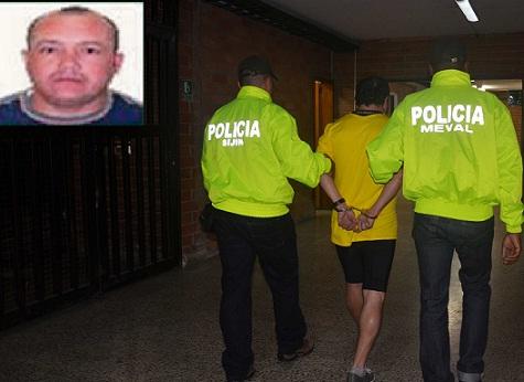 Tras la captura, Ruiz fue conducido a la sede de la Sijín, en Medellín. Cortesía Policía Metropolitana.