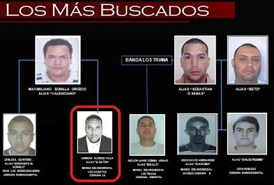 """Este organigrama de la Policía de Colombia muestra a """"el Ratón"""" como uno de los aliados principales de """"Valenciano"""". Archivo."""