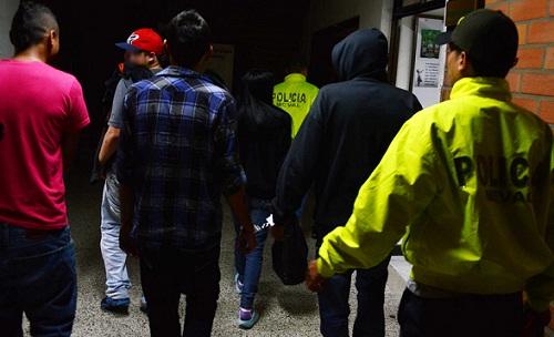 """Los integrantes de """"La Camila"""" fueron detenidos en la Operación Cronos. Cortesía Policía Metropolitana."""