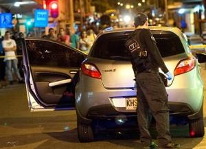 """En este carro iba alias """"Durán"""" cuando le dispararon. Cortesía."""