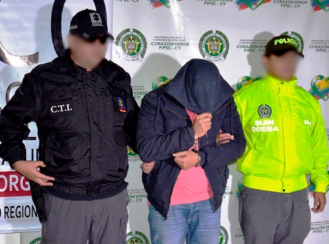 El capitán (r) Johan Arenas aceptó la culpa en el estrado y ahora espera la sentencia. Cortesía Policía Antioquia.