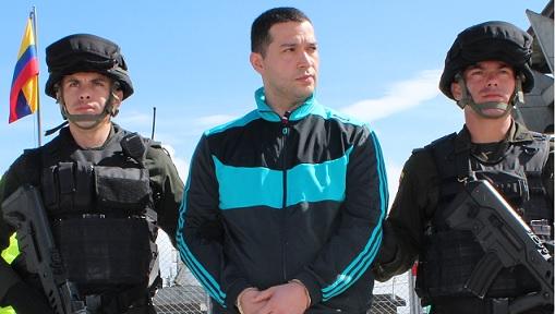 """Así lucía Ericson Vargas, alias """"Sebastián"""", el día de su extradición en 2013. Cortesía Policía."""