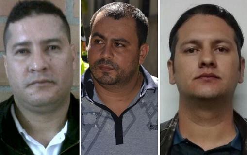 """De izquierda a derecha: José Otalivar Chavarría (""""Jotalibán""""), Didier Ríos López (""""Tuto"""") y Julián González Vásquez (""""Barny""""). Fotos de Archivo."""