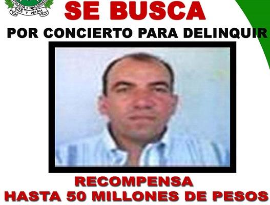 """Antes de someterse a la justicia en E.U., """"Rogelio"""" era buscado en Colombia por concierto para delinquir. La recompensa era de 50 millones de pesos."""