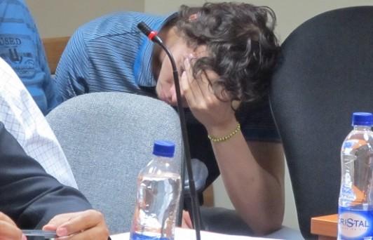 """Desde la audiencia de control de garantías, Juan Pablo Taborda, alias """"Yordi"""", supo que estaba perdido."""