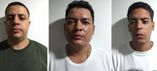 """derecha: alias """"el Gordo"""", """"Lancha"""" y Yéferson Álvarez. Cortesía Fiscalía."""