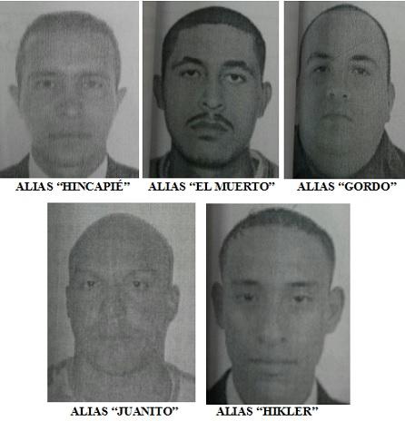 """Estos son los presuntos miembros de la """"Convivir Carabobo"""" capturados. Cortesía."""