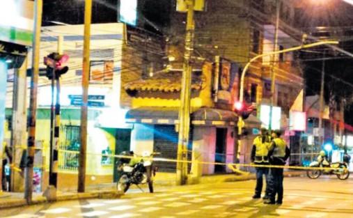 En esta zona, a una cuadra del parque principal de Bello, ocurrió el doble asesinato del abogado y el taxista. Cortesía.