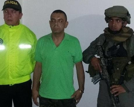 """""""Elkin Chata"""", capturado por los comandos de la Policía. Foto cortesía."""