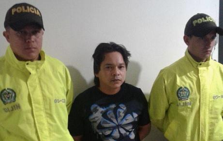 """Alias """"Jonás"""" no alcanzó a reaccionar al operativo, en un apartamento de Medellín. Foto cortesía."""