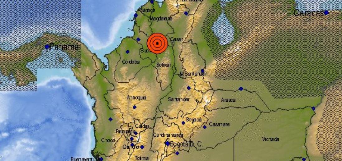 Temblor de magnitud 5,7 se sintió en Antioquia