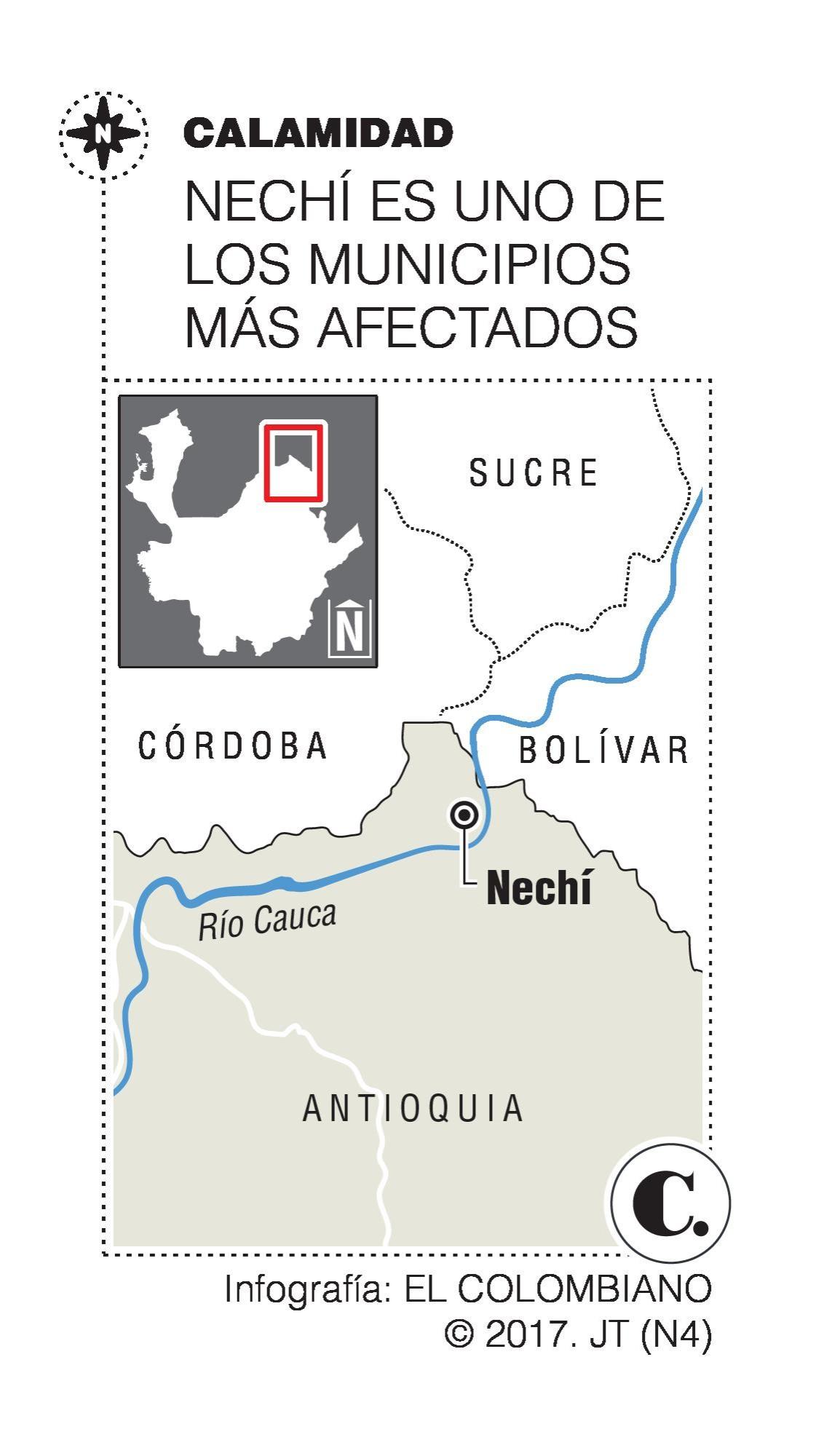Damnificados por invierno en Antioquia