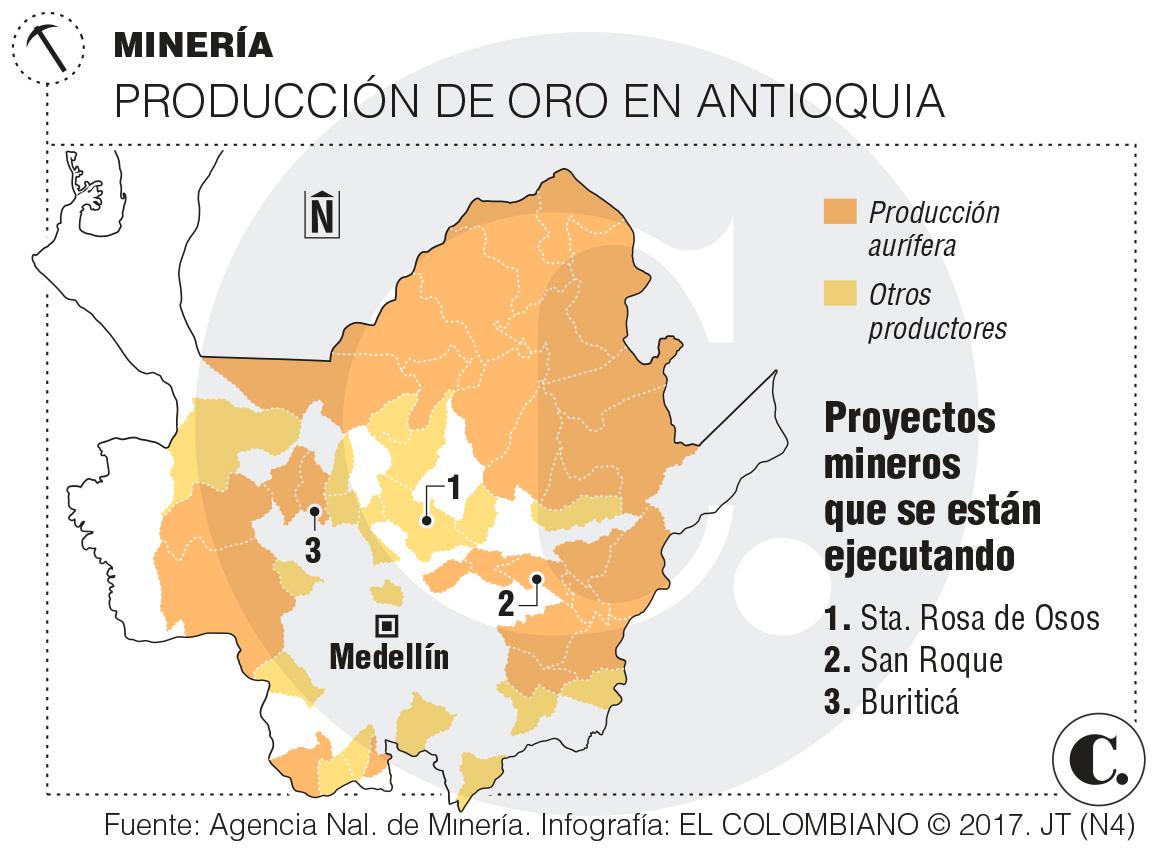 Tres minas paisas aumentarán en 163 % extracción de oro legal
