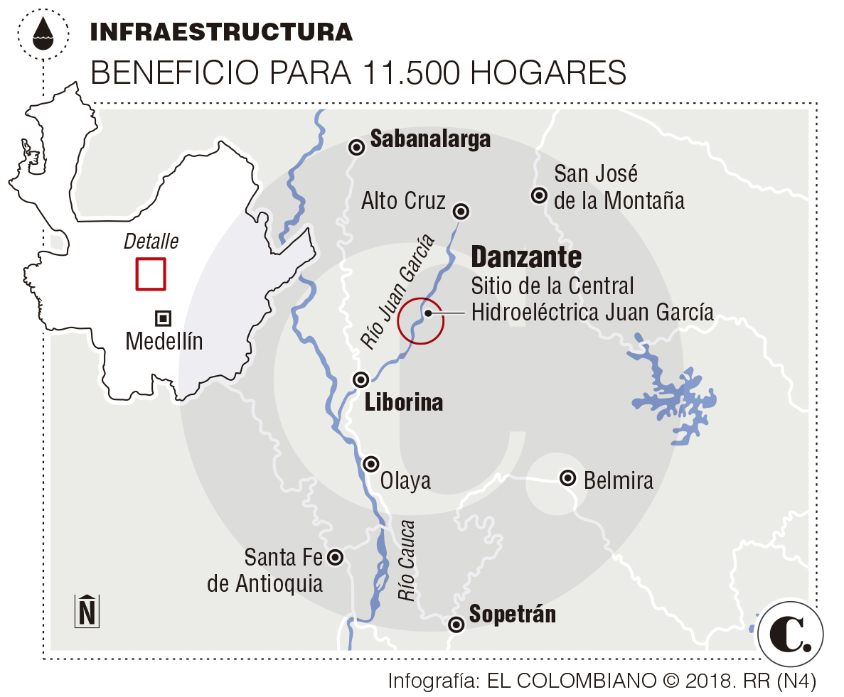 Central Hidroléctrica Juan García en Antioquia