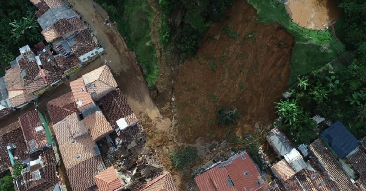 La emergencia en Jericó vista desde el aire - El Colombiano