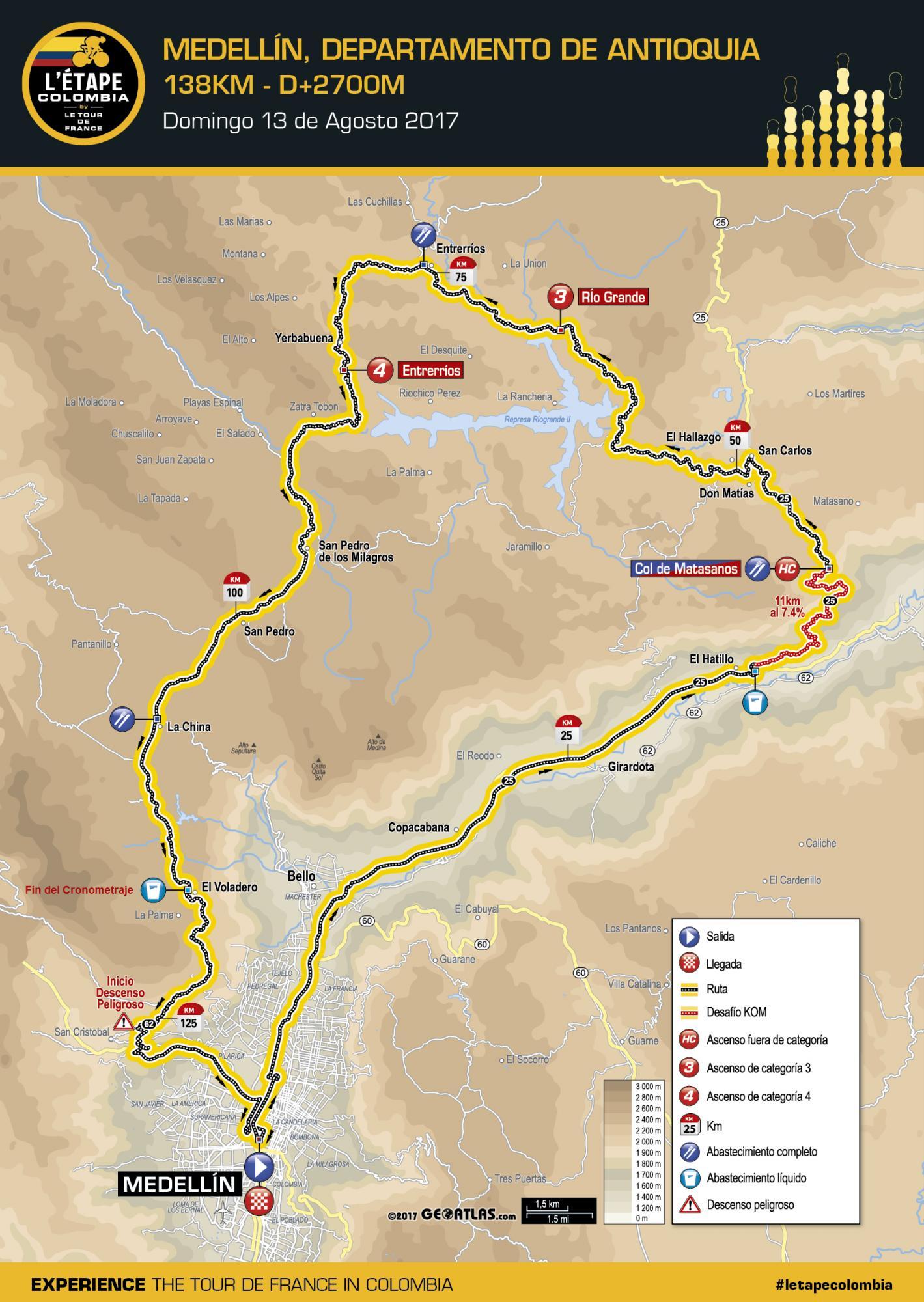 Tenga presente los cierres viales por la Etape by Le Tour de France