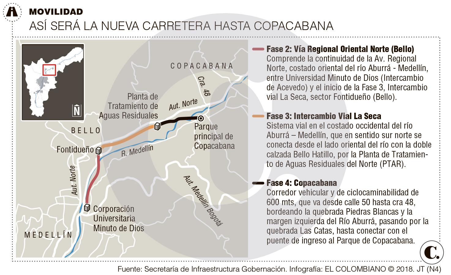 Construirán la vía que descongestionará el norte del Aburrá