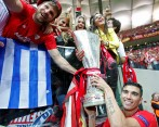 Jose Antonio Reyes celebra en 2015 la Europa League. Foto: Reuters