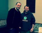 Brian Acton y Jan koum, fundadores de WhatsApp. FOTO: Sequoia Capital