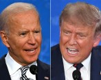 Joe Biden y Donald Trump luchan por ganar los Estados en disputa o battlegrounds states. FOTO: AFP