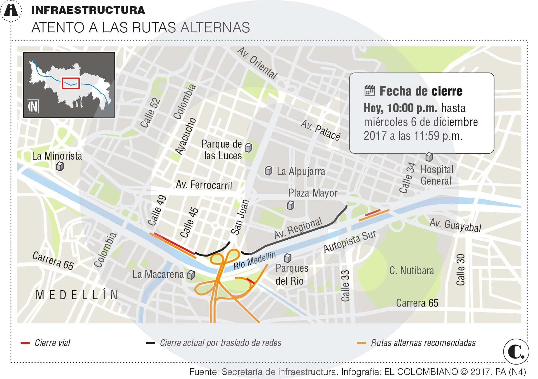 Por Parques del Río inician restricciones en la Regional