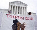Protestas contra el presidente Trump en Washington. FOTO EFE
