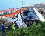 Accidente de bus en Portugal. FOTO: AFP