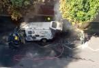 Un vehículo se incendió en El Poblado