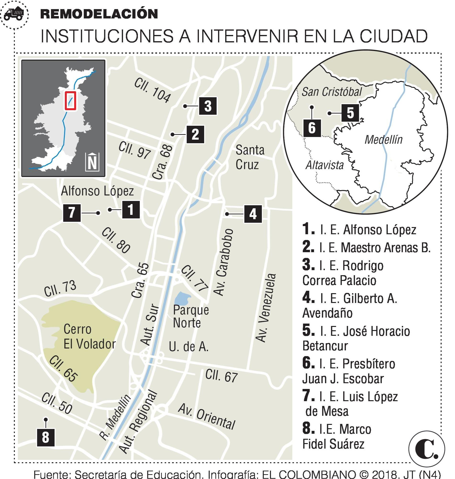 Colegios en mal estado en Medellín